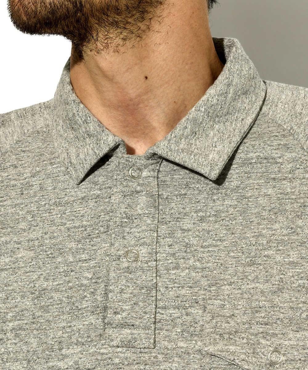 ラグランポロシャツ