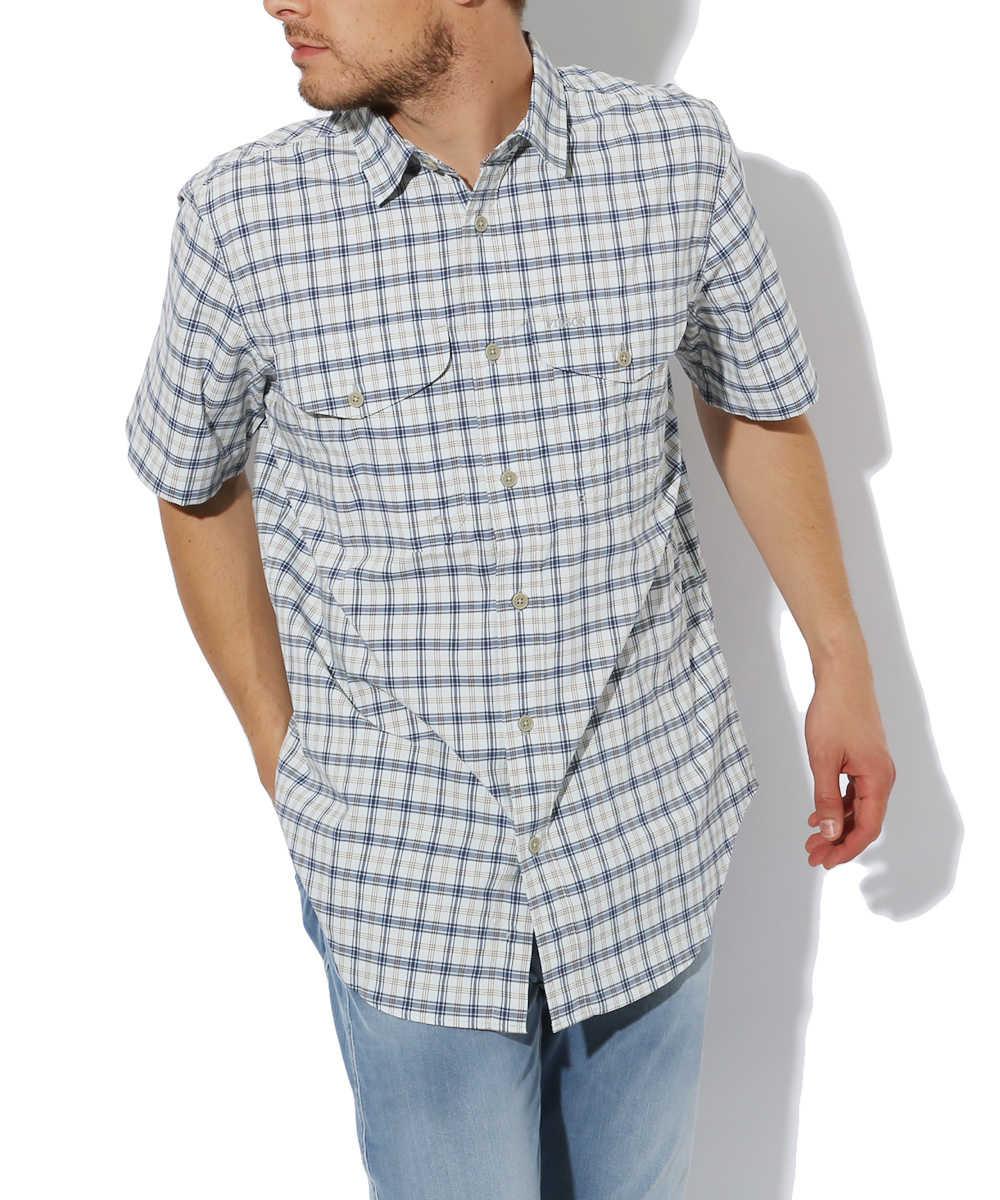 チェック半袖シャツ