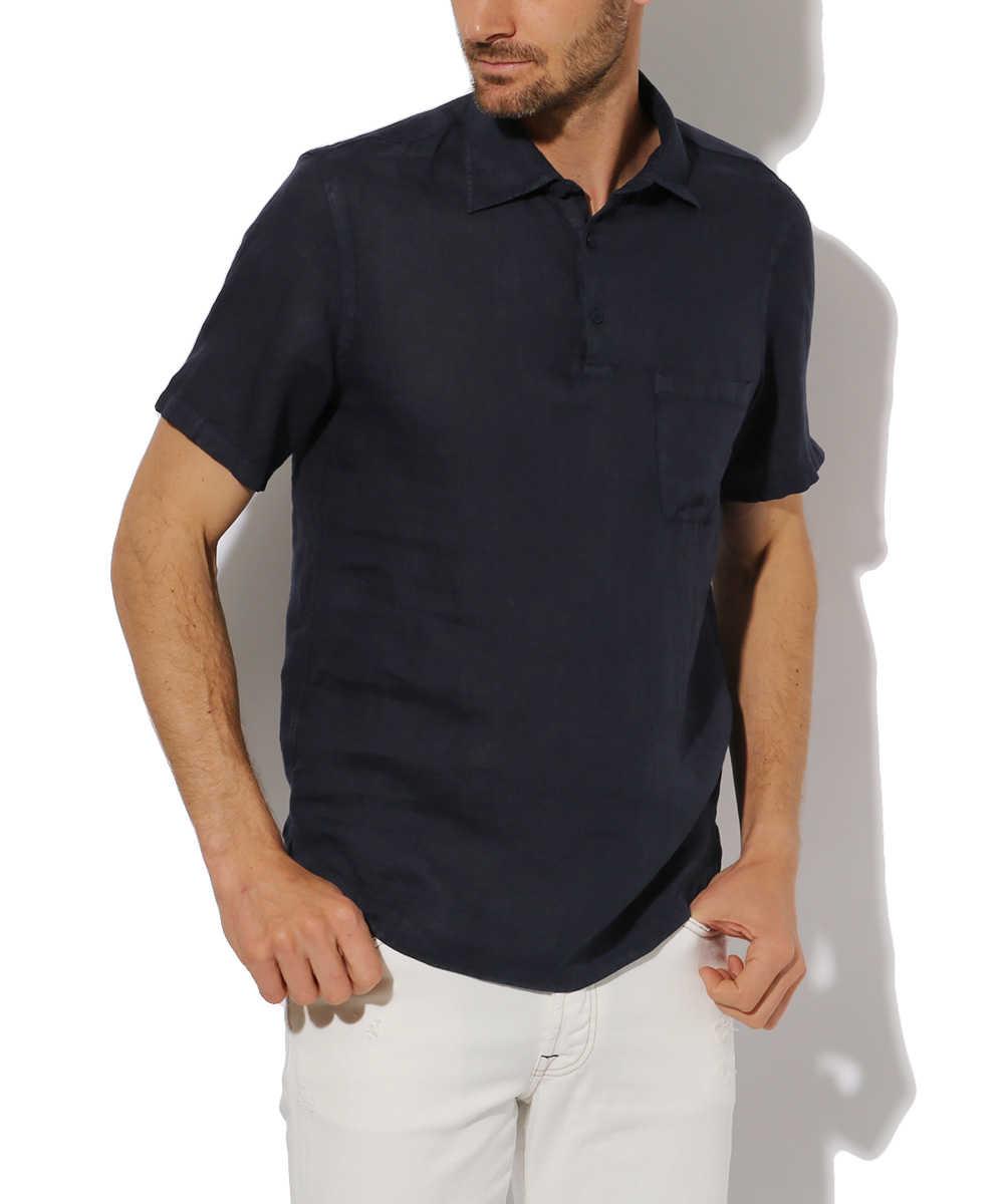リネンプルオーバーシャツ