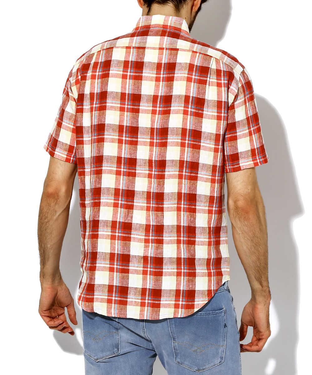 チェックリネンシャツ