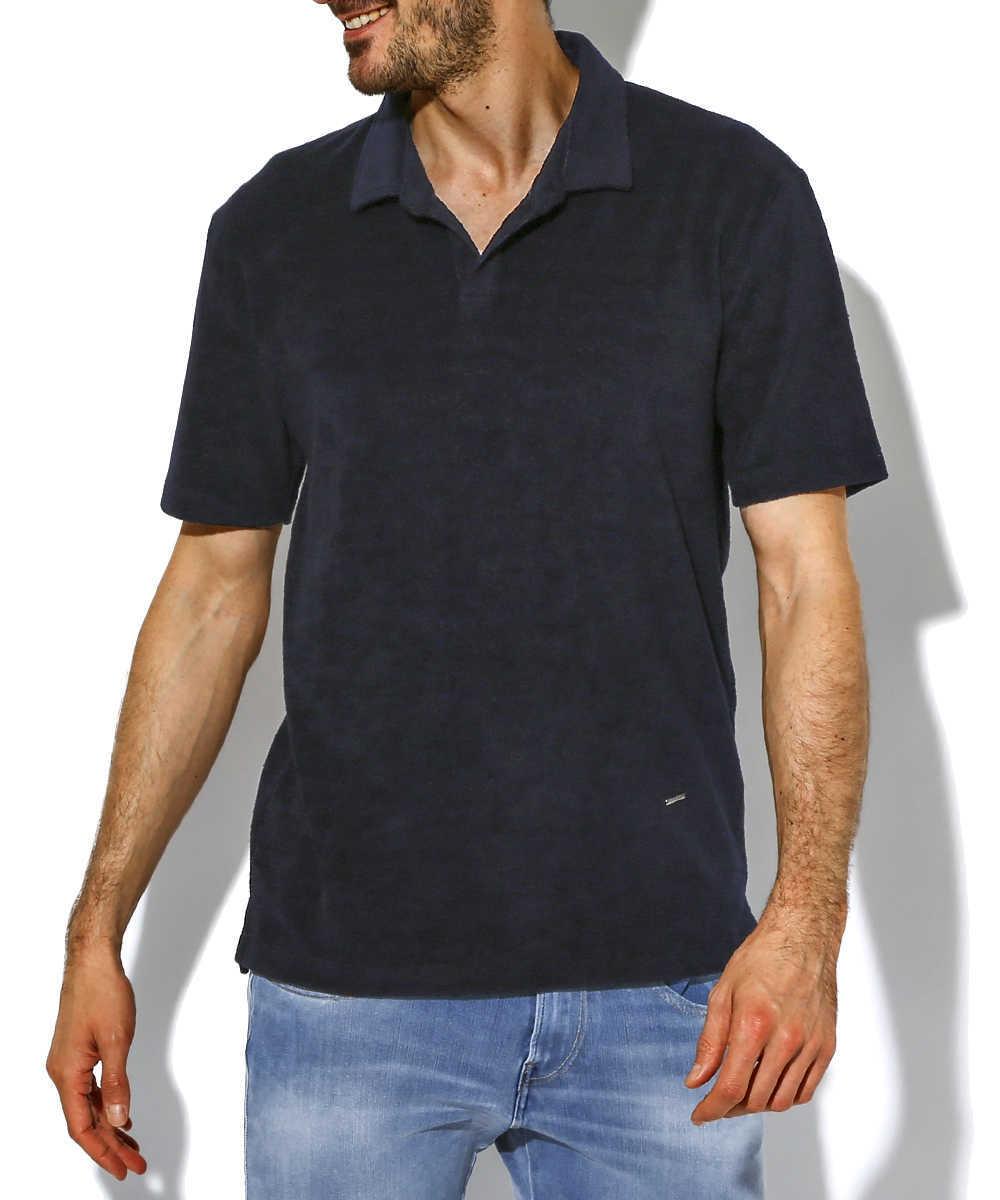 【別注・限定販売商品】ボーダーパイルポロシャツ