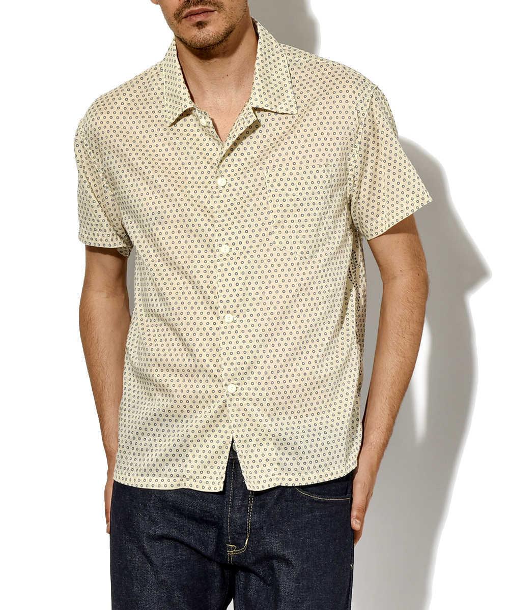 バンダナドット柄半袖シャツ