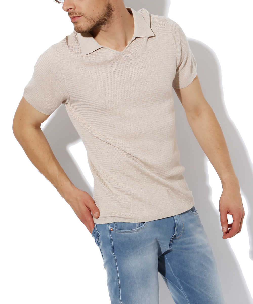 スキッパーポロシャツ