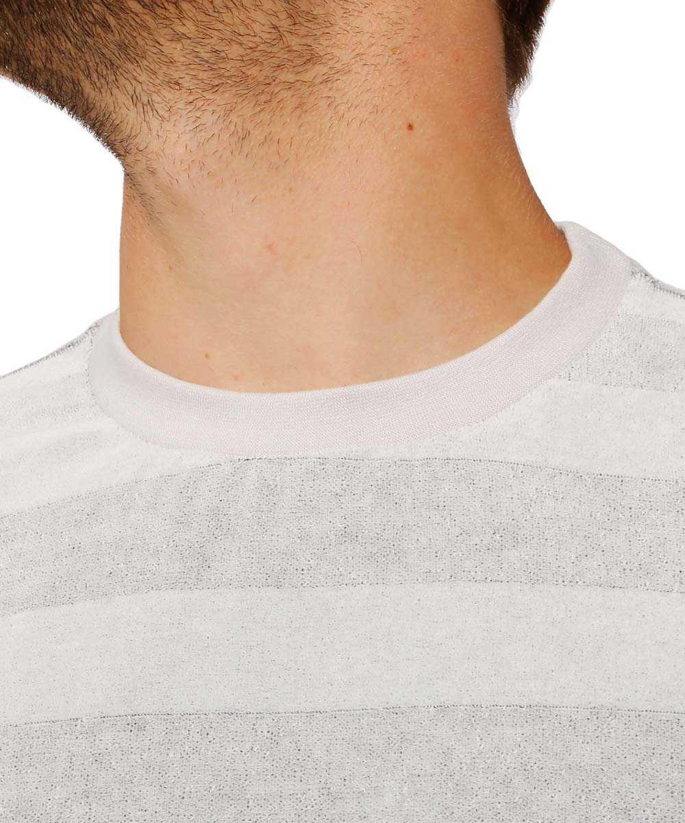 ビッグボーダーベロアクルーネックTシャツ
