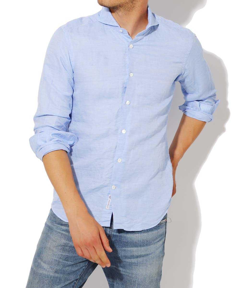 リネンコットンドビーシャツ