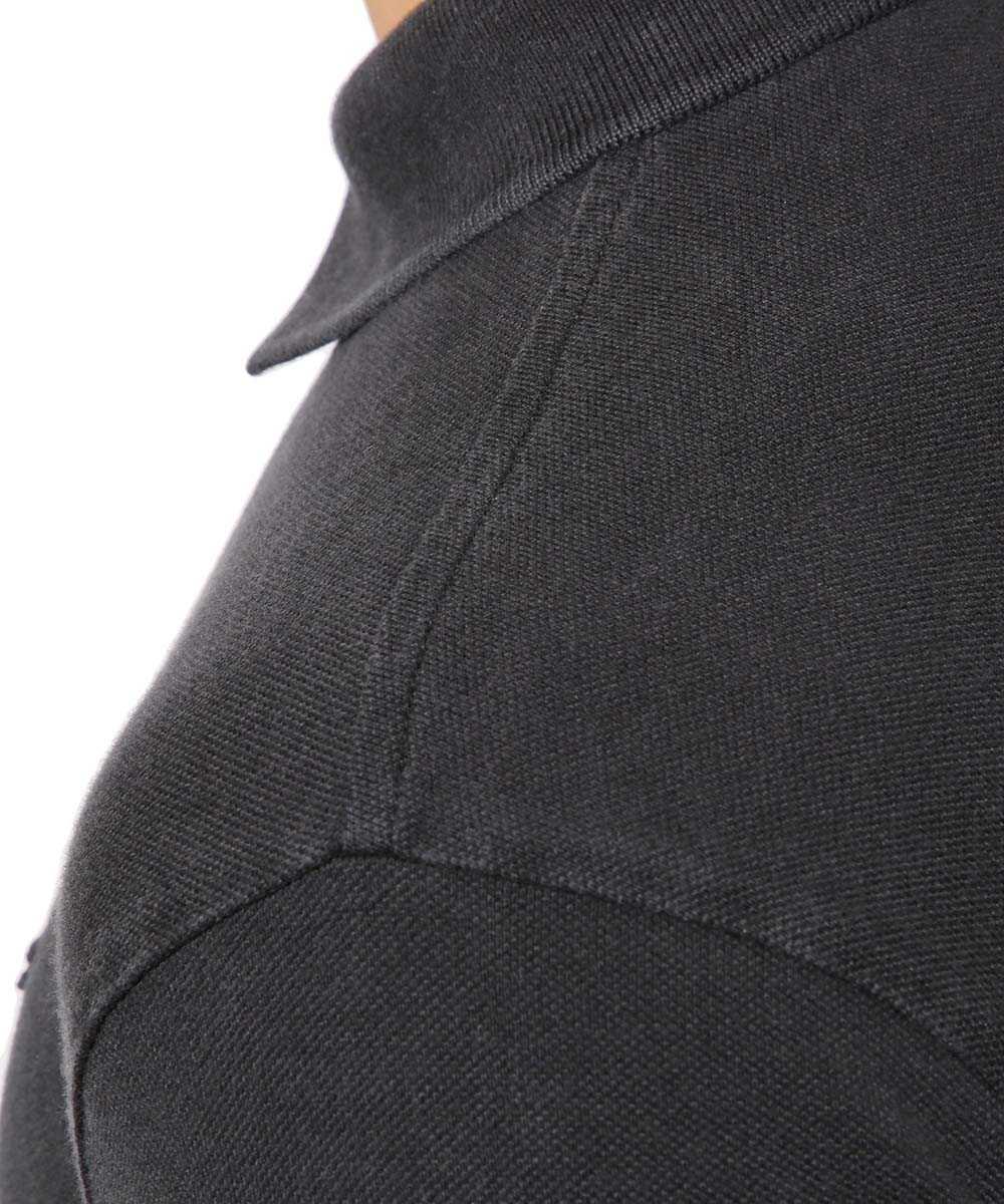 ヴィンテージ風鹿の子地ボーダーポロシャツ