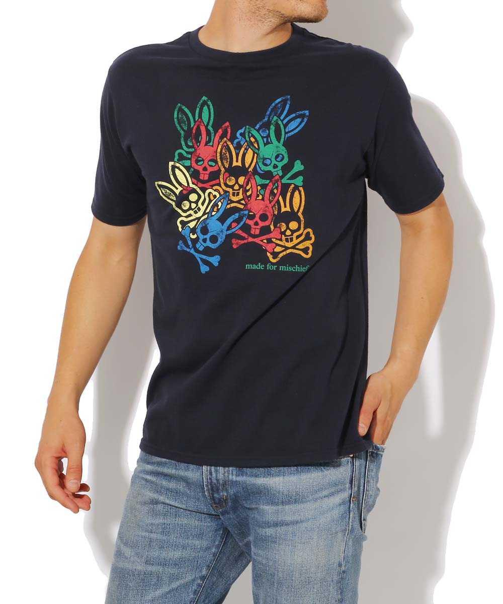 スタンプロゴクルーネックTシャツ