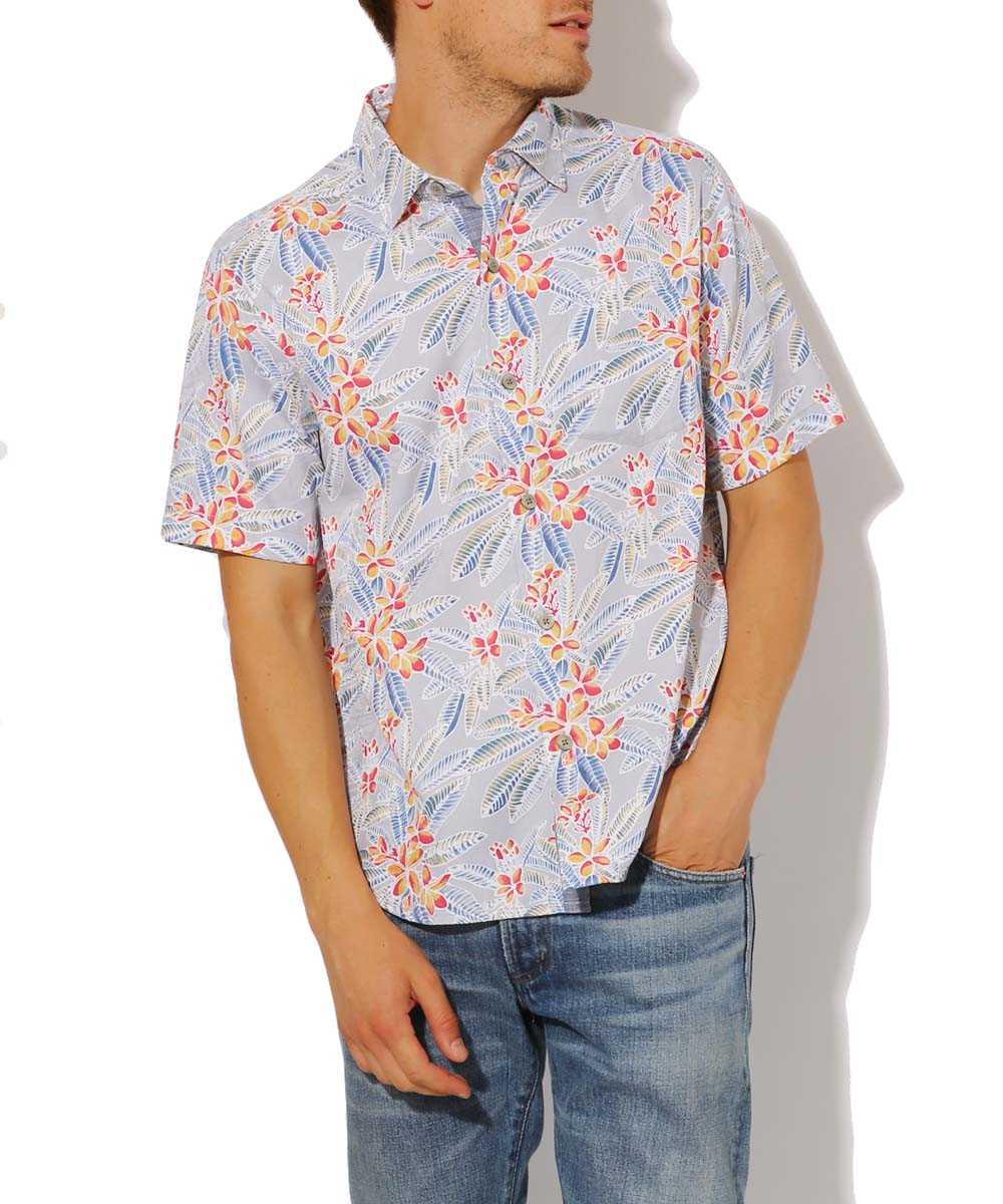 フラワープリントシャツ