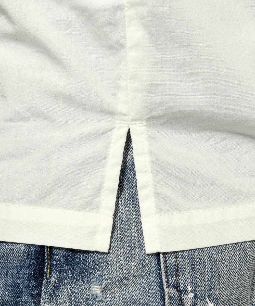 オープンカラー半袖シャツ