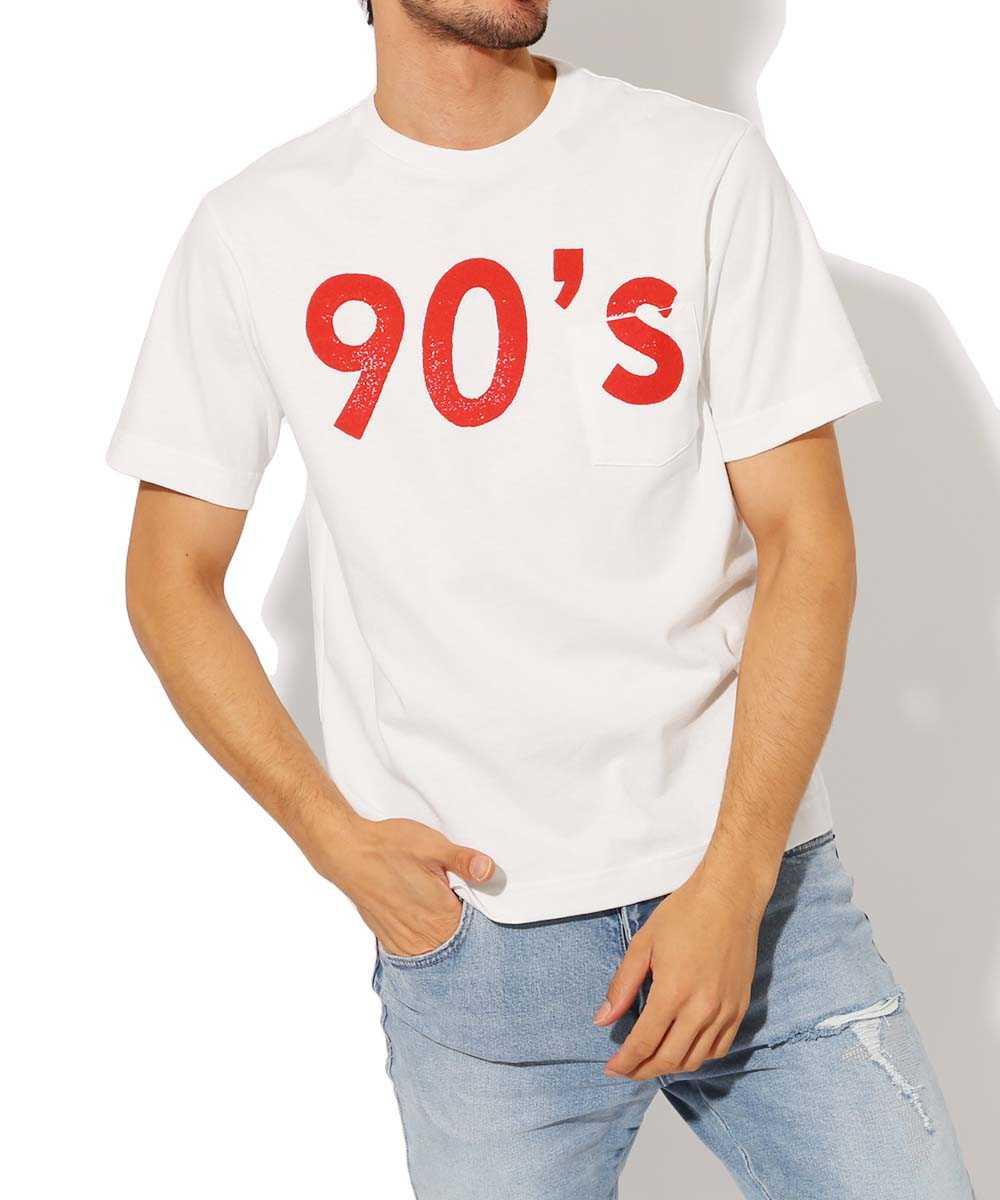 """""""90's""""クルーネックTシャツ"""