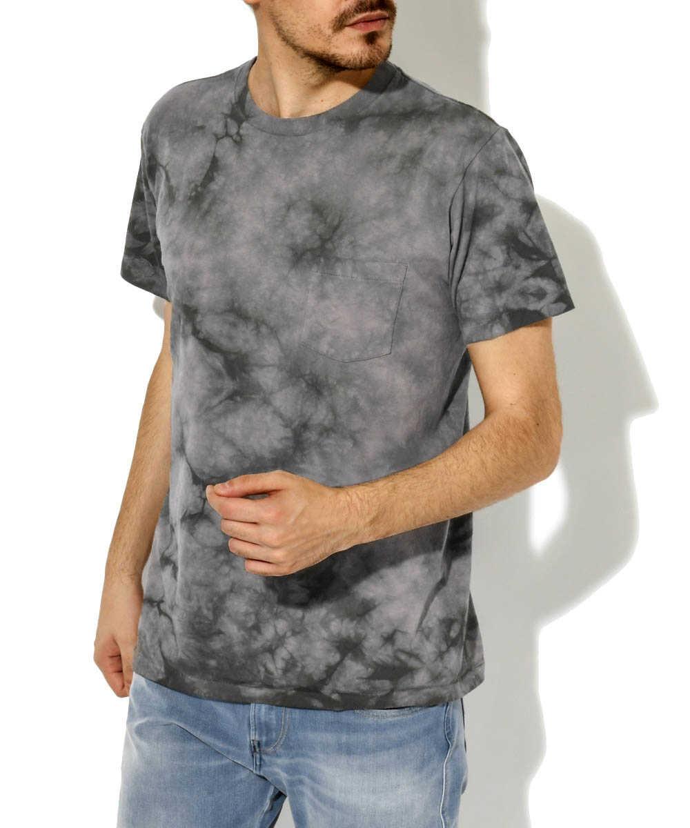 クルーネックタイダイポケットTシャツ