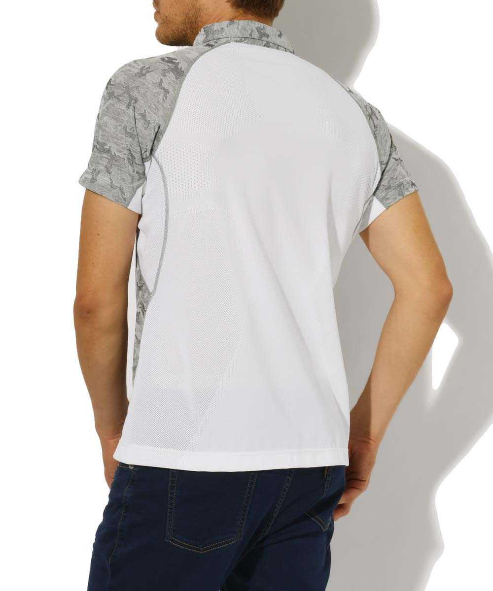 カモフラポロシャツ