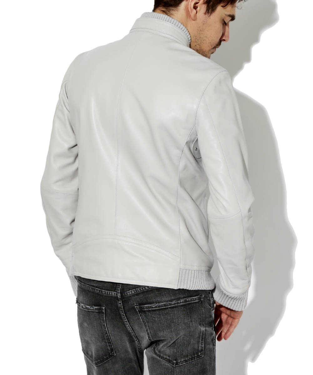 カラーレザージャケット