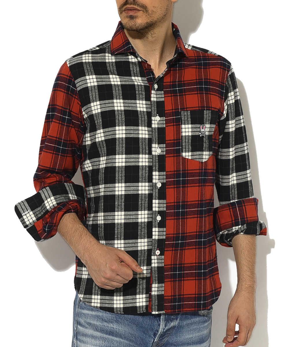 クレイジーネルチェックシャツ