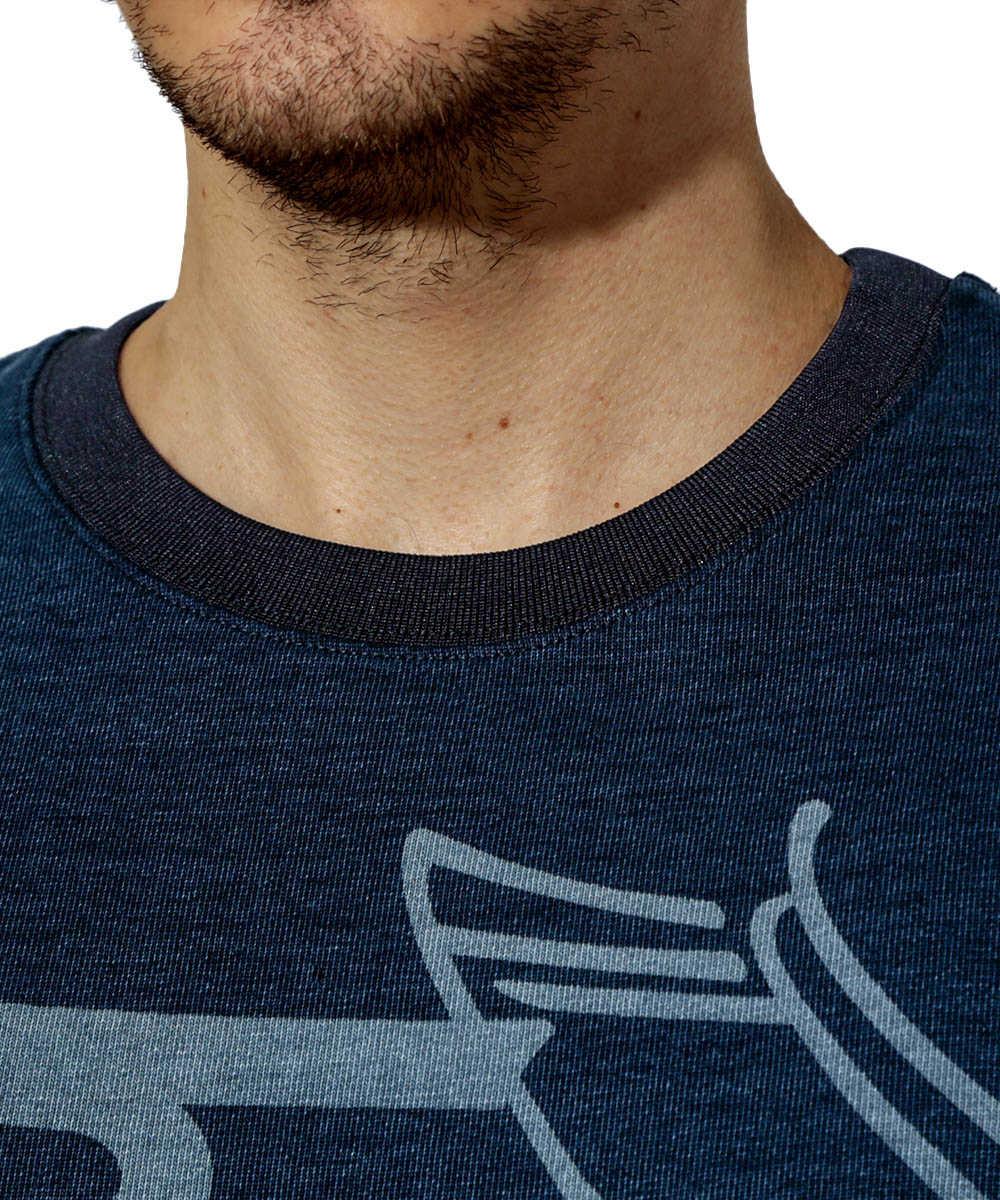 インディゴクルーネックスウェットシャツ