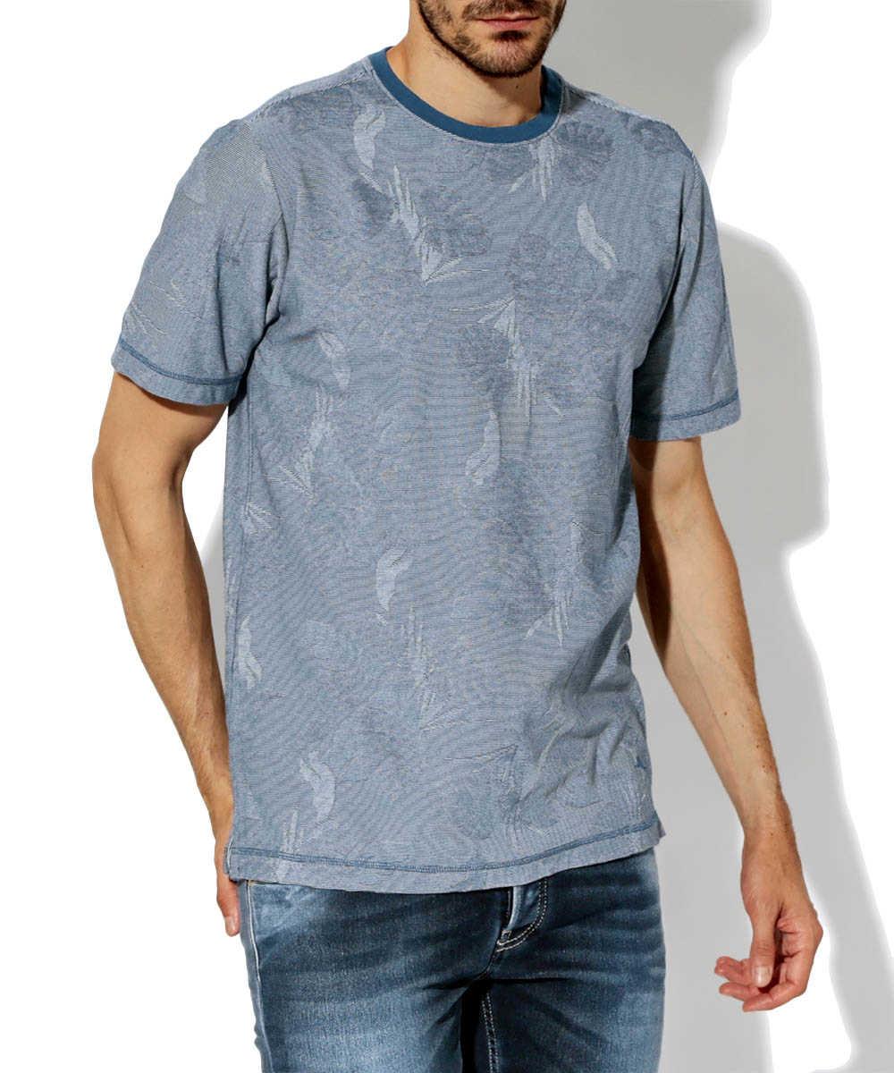 ジャガードクルーネックTシャツ