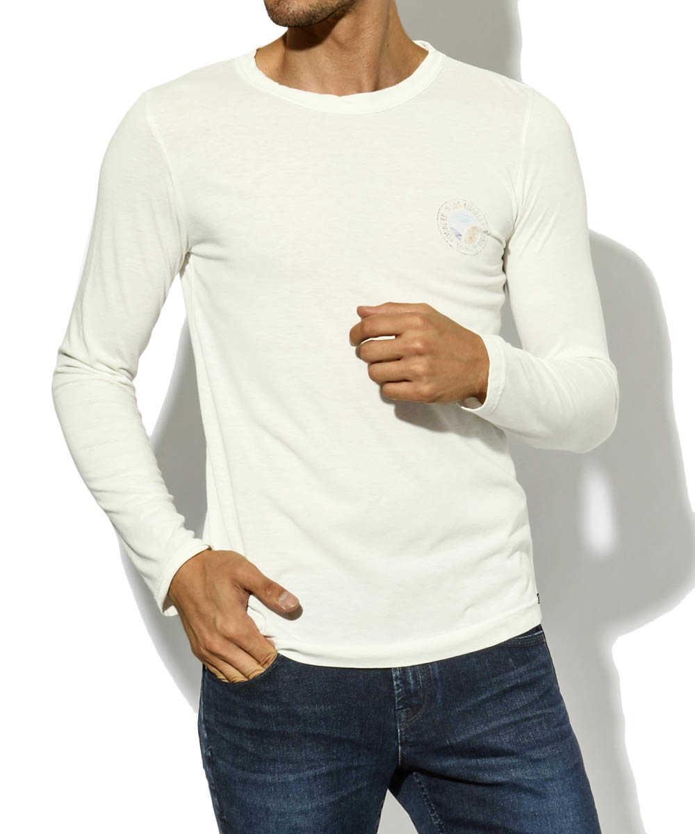 ロングスリーブプリントクルーネックTシャツ