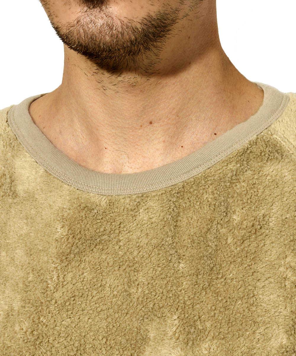 リバーシブルパイルスウェットシャツ