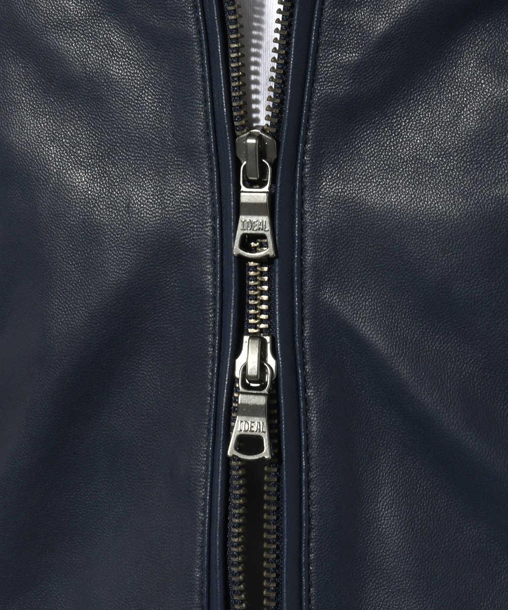 インディゴレザージャケット
