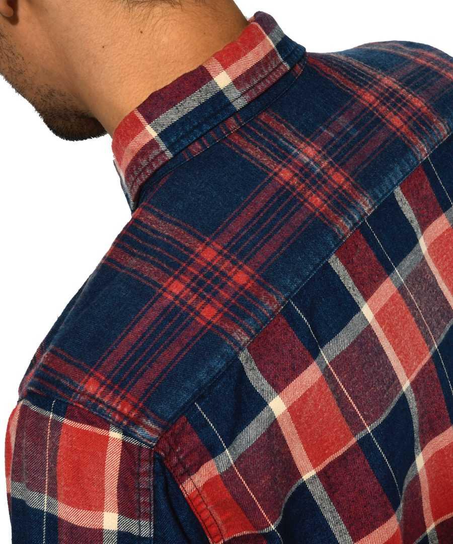 インディゴクレイジーチェックシャツ