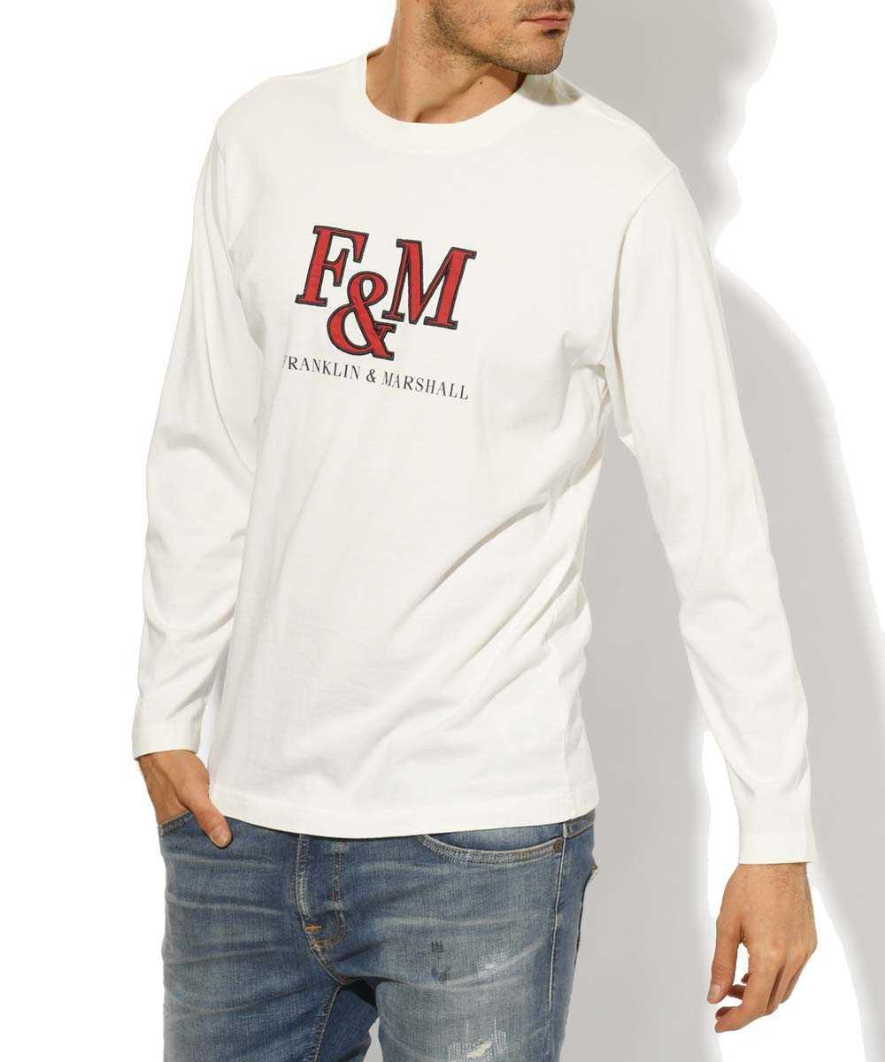 ロングスリーブクルーネックプリントTシャツ