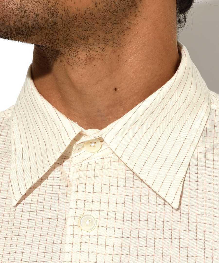 チェックストライプシャツ