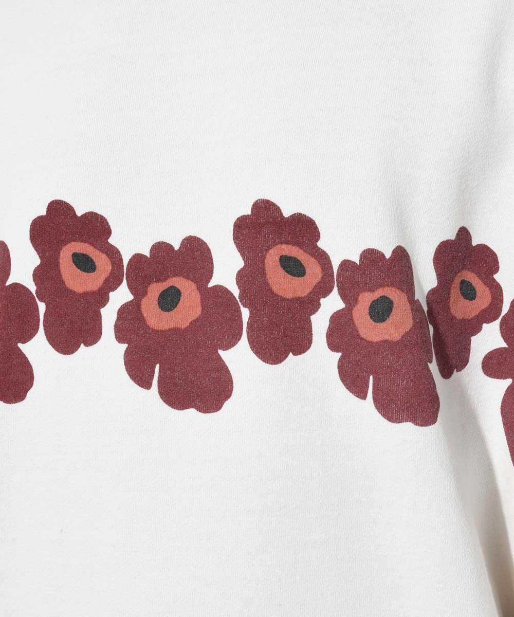 【別注・限定販売商品】花柄クルーネックスウェットシャツ