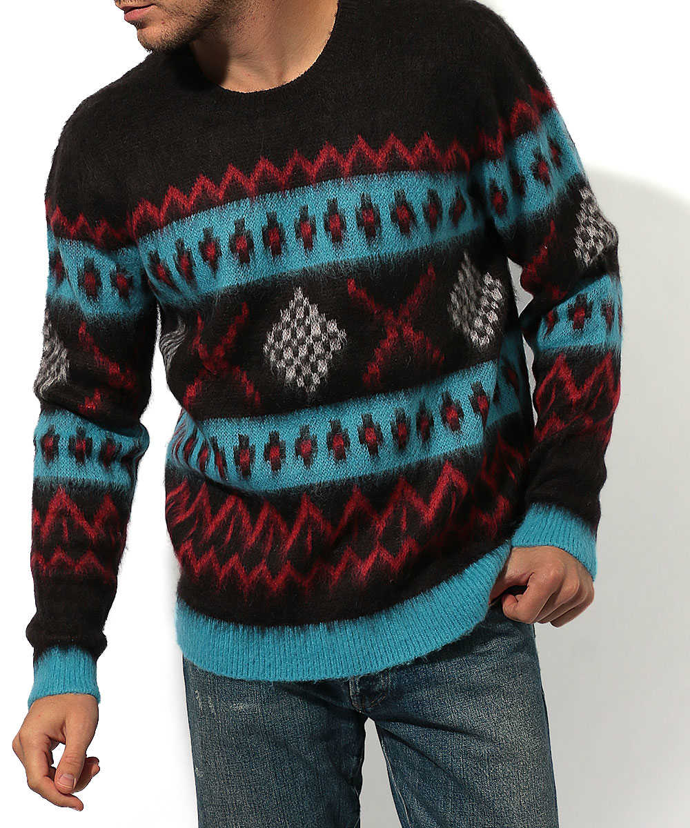 アルパカブレンド エスニックシャギーセーター