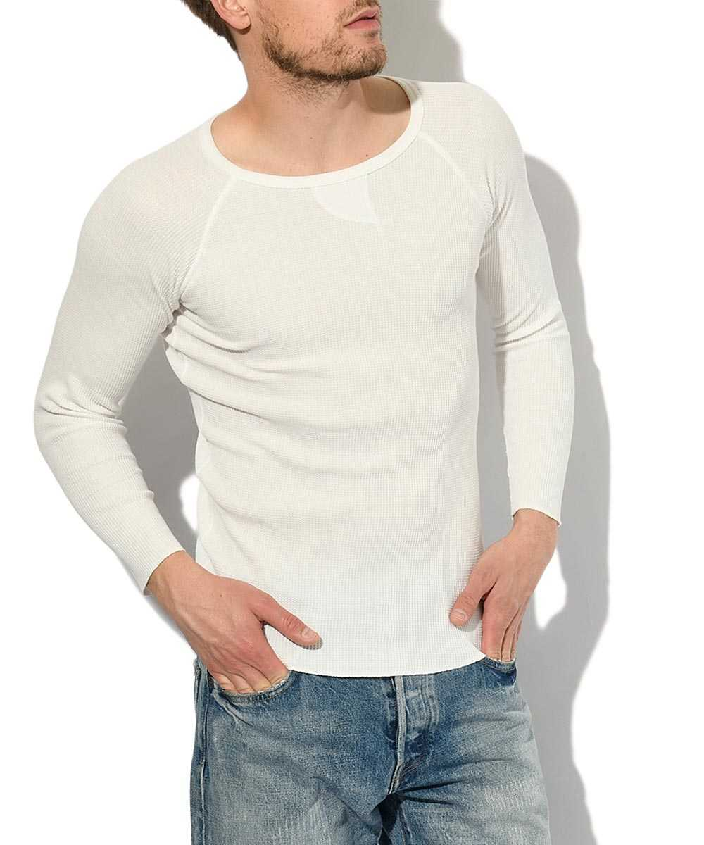 ワッフルクルーネックパックTシャツ