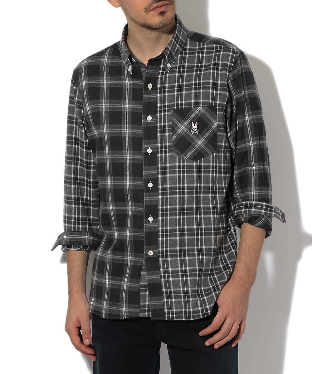モノチェッククレイジーシャツ