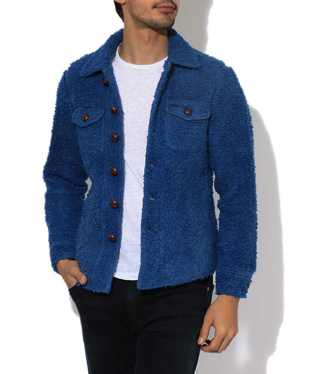 インディゴボアシャツジャケット