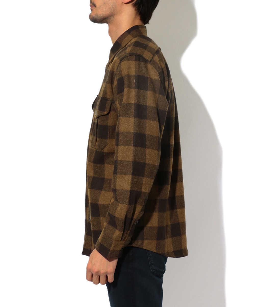 ウールチェックシャツ