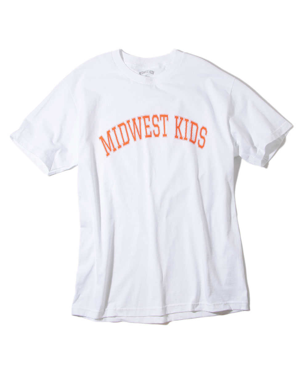 クルーネックプリントTシャツ