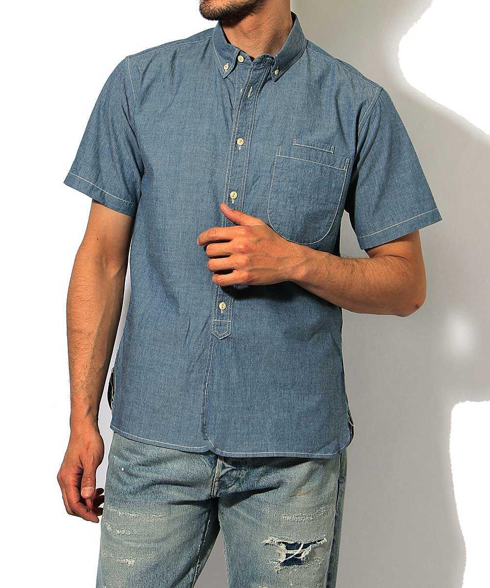【予約別注・限定商品】カラーシャンブレー半袖シャツ