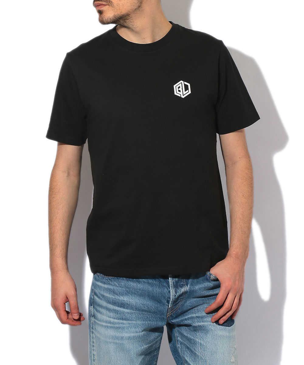 【ブラックレーベル】3D立体ロゴクルーネックTシャツ