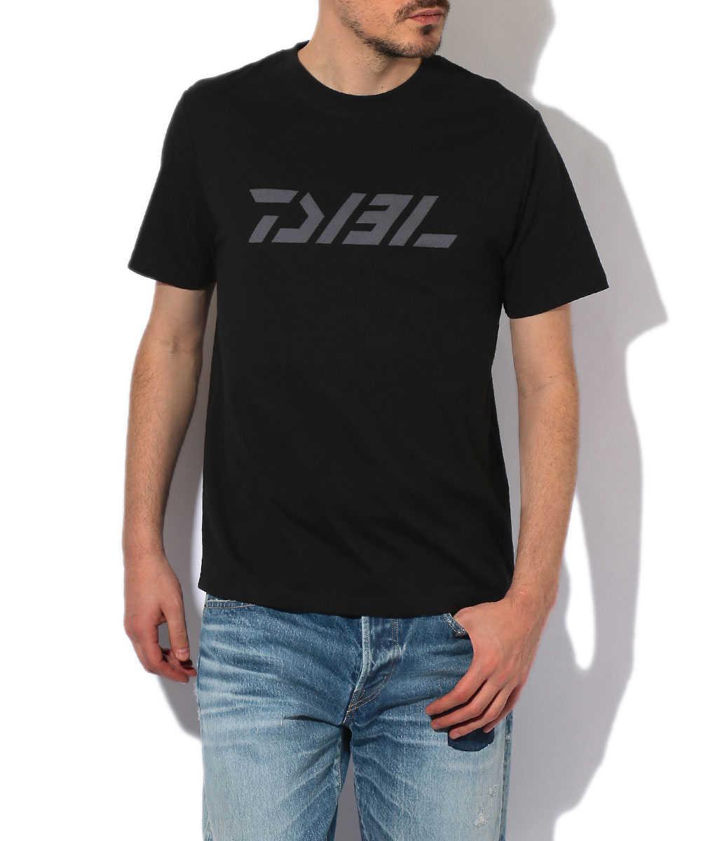 【ブラックレーベル】メッシュロゴクルーネックTシャツ