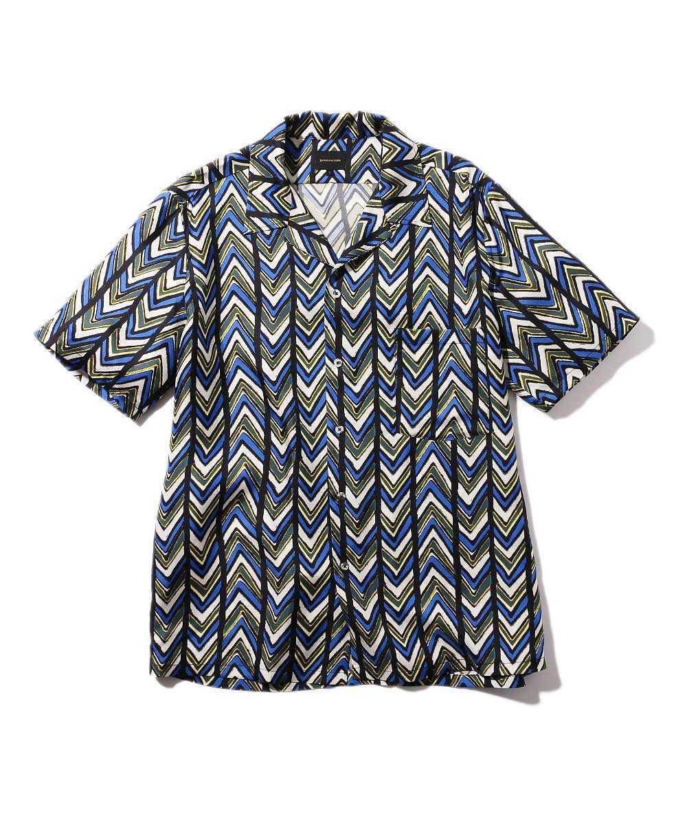 オープンカラーシルクシャツ