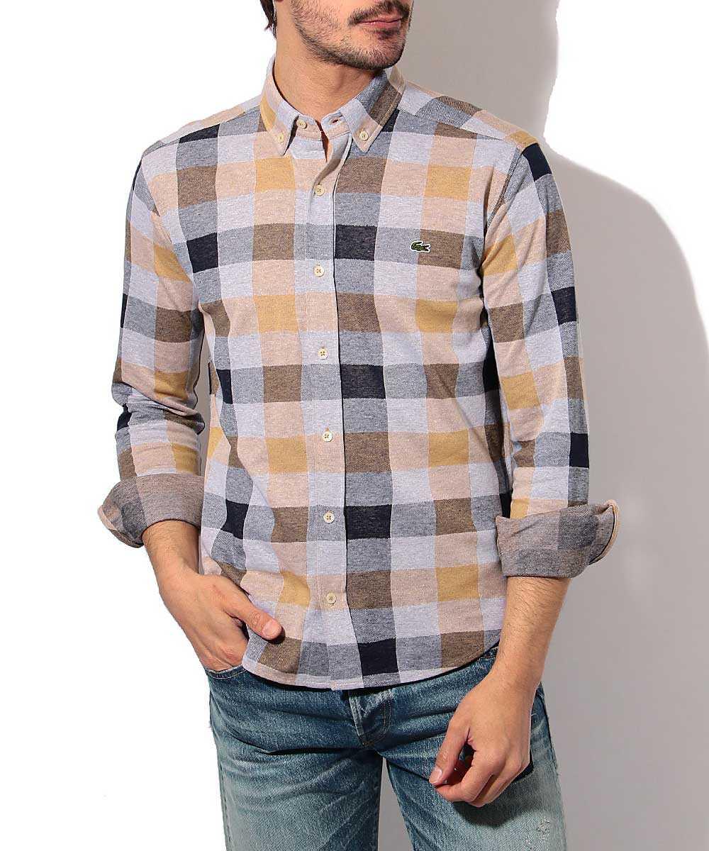 ジャガードチェックシャツ