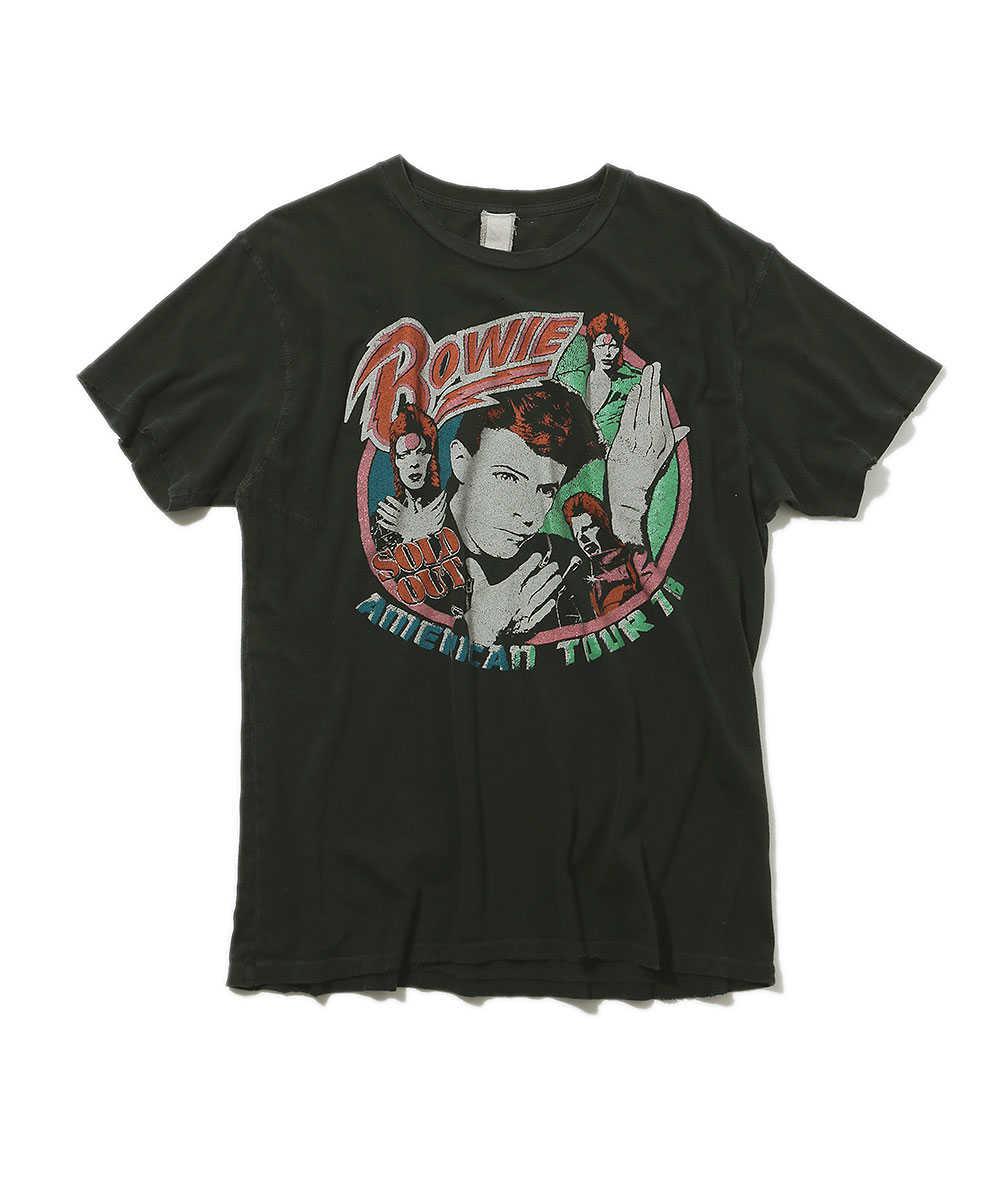 """""""デヴィッド・ボウイ アメリカンツアー'78""""クルーネックTシャツ"""