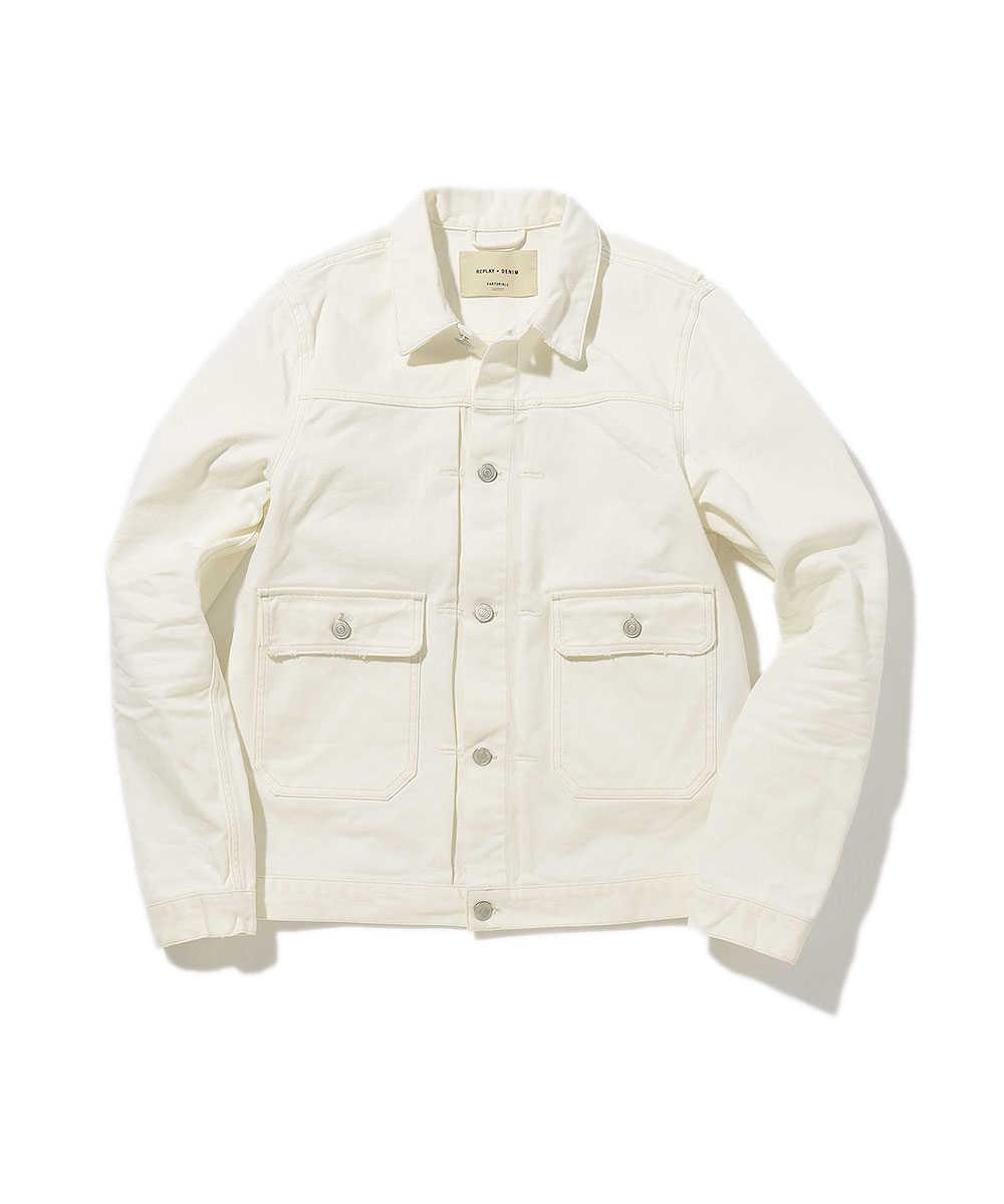 ホワイトデニムジャケット