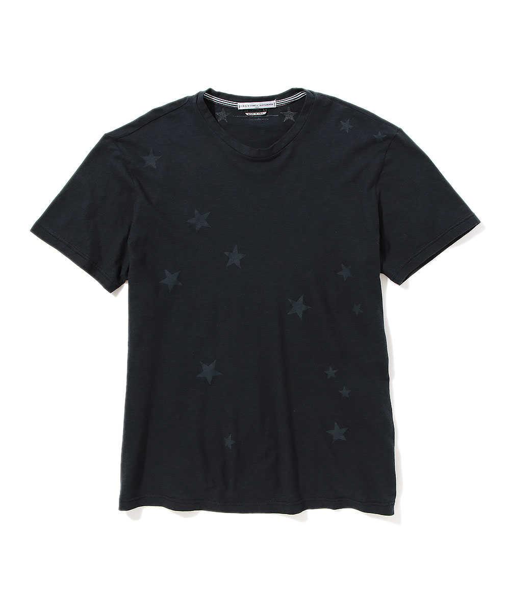 クルーネックスタープリントTシャツ