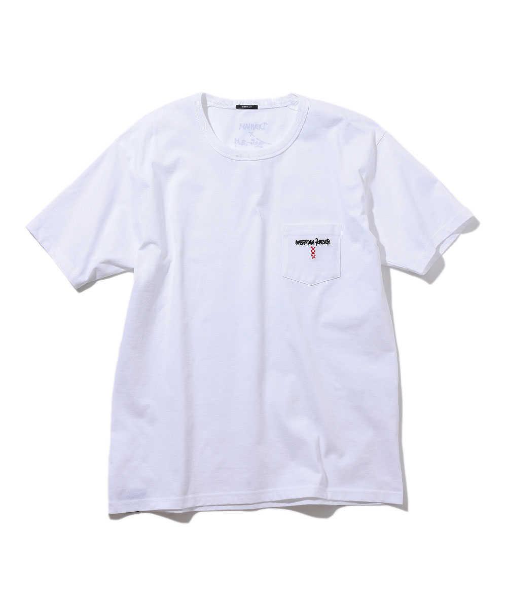 """""""フォーエバー POCKET HCJ""""クルーネックTシャツ"""