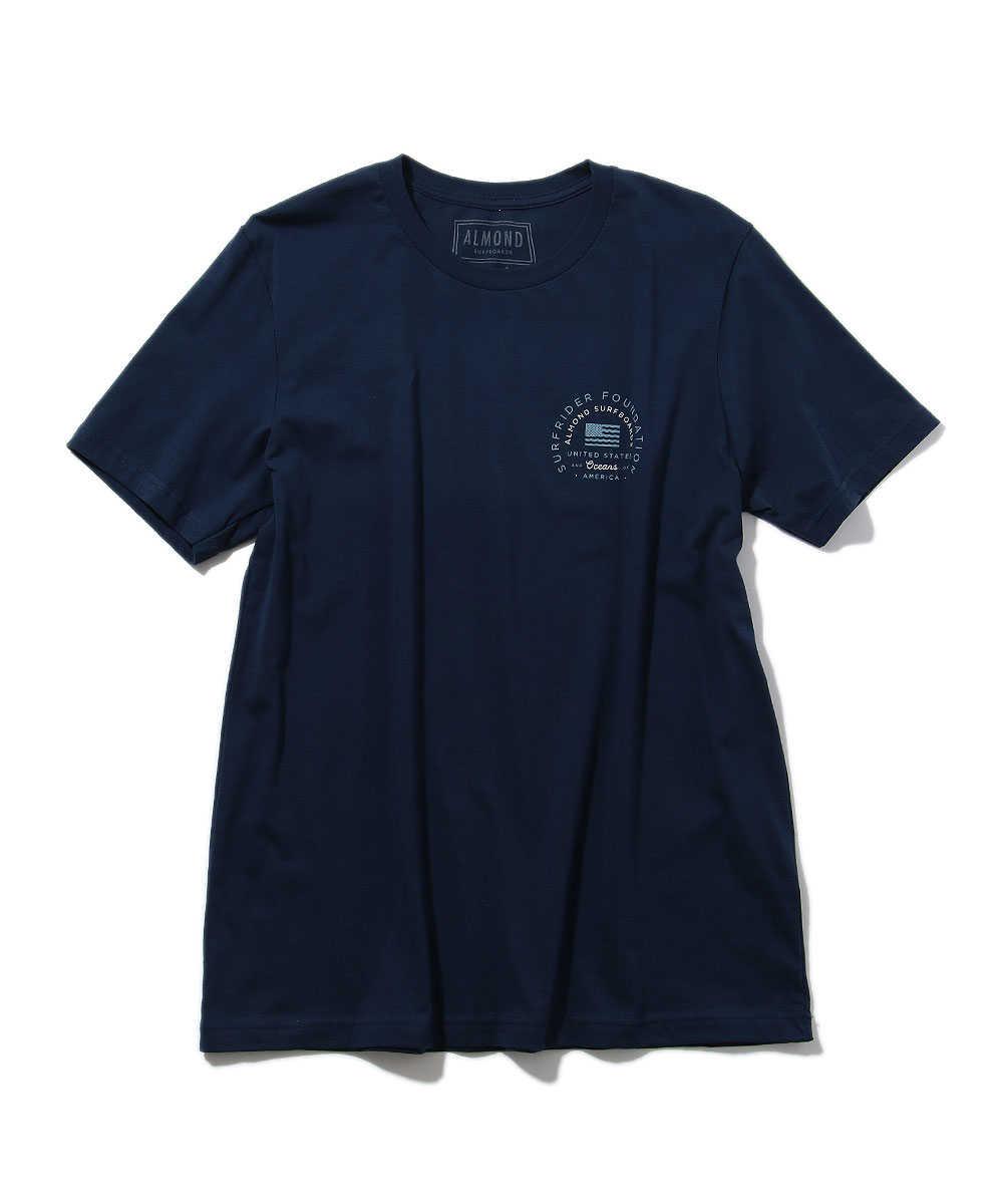 ア-モンド×サーフライダーファウンデーション クルーネックプリントTシャツ