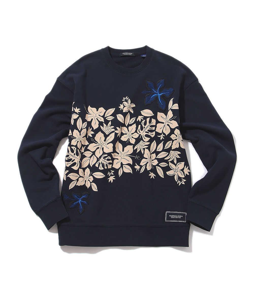ハワイアンプリントスウェットシャツ